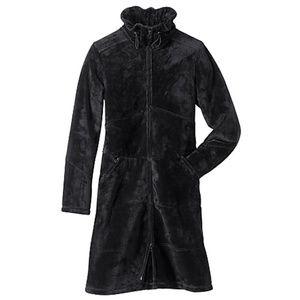 RARE Athleta Minka Plush Fleece Thermal Coat Black